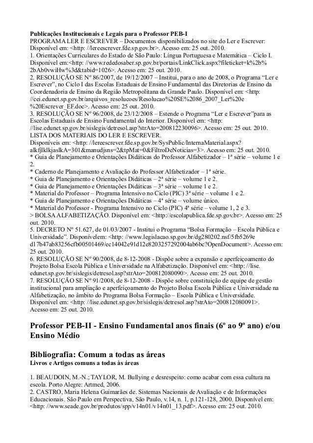 Bibliografias prova act Slide 2