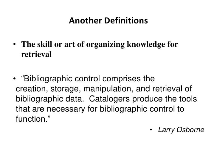 bibliography meaning and definition
