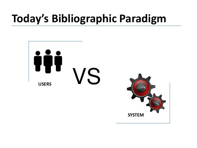 Today's Bibliographic Paradigm VSUSERS SYSTEM