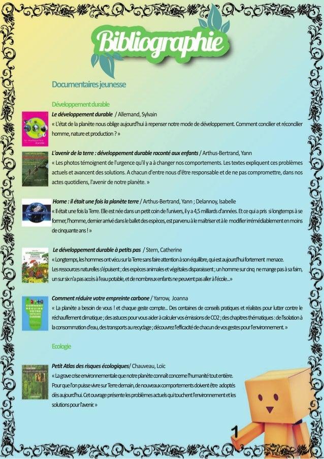 Documentairesjeunesse Développementdurable Ledéveloppementdurable/Allemand,Sylvain «L'étatdelaplanètenousobligeaujourd'hui...