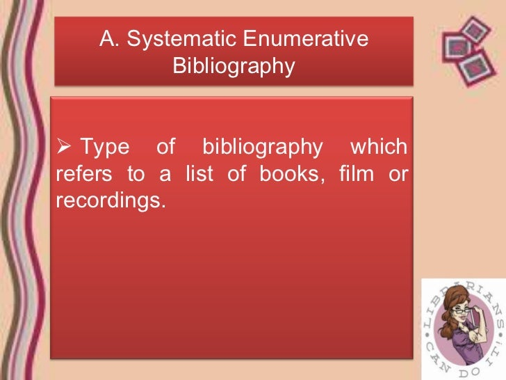 Enumerative bibliography