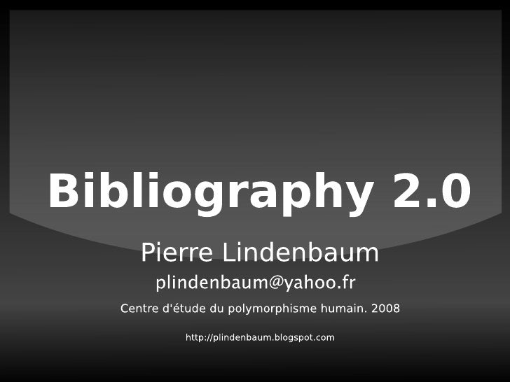 Bibliography2.0