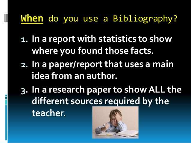 how to write a bibliography for a report