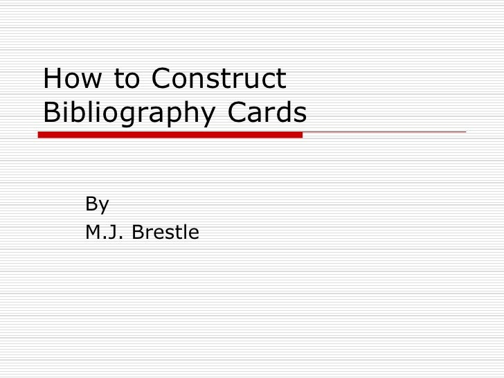bibliography source cards mla format