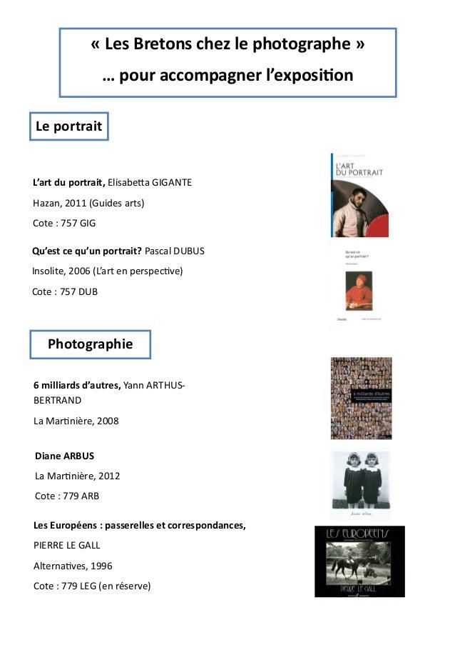 « Les Bretons chez le photographe »  … pour accompagner l'exposion  Le portrait  L'art du portrait, Elisabea GIGANTE  Haza...