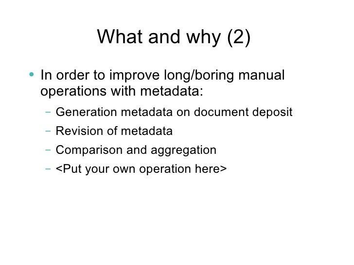 Bibliographic Metadata Including Citation