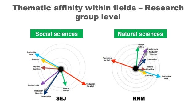 Social sciences Natural sciences Thematic affinity within fields – Research group level
