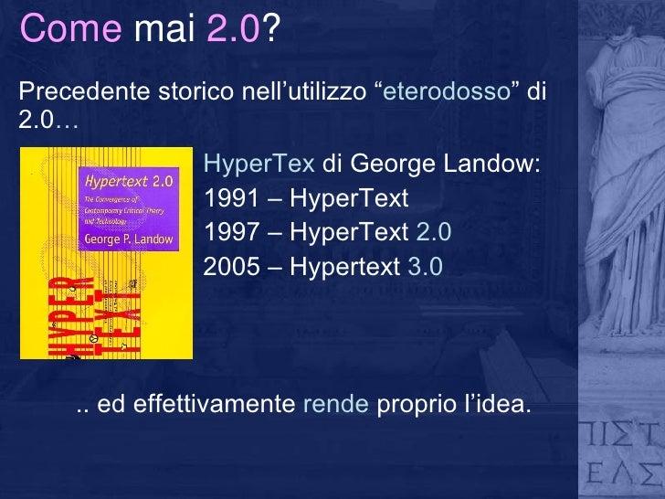Biblioteca 2.0: verso un information network partecipato Slide 3