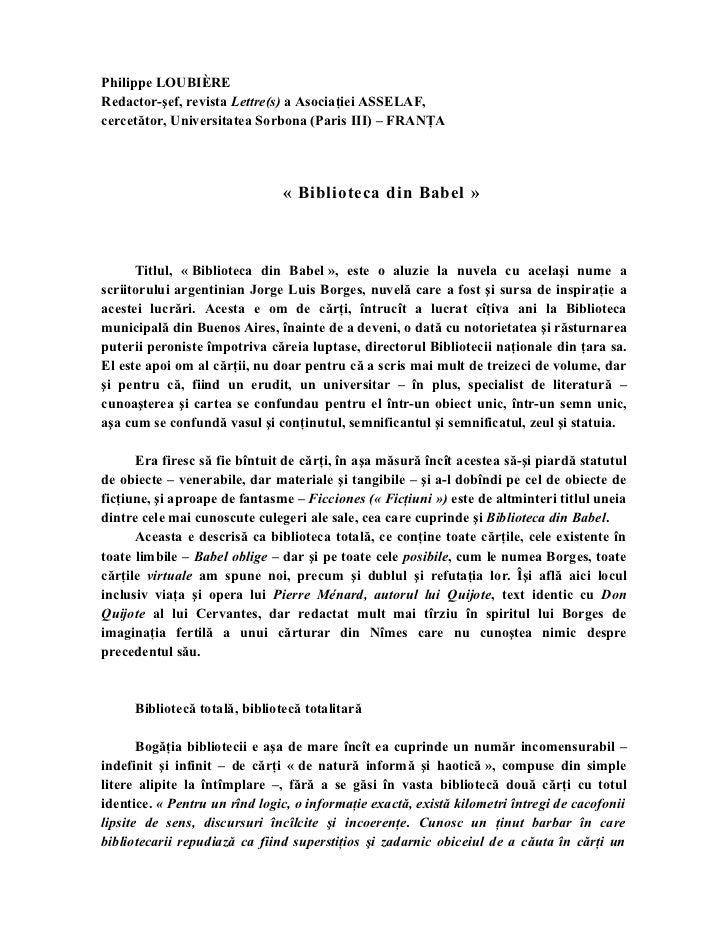 Philippe LOUBIÈRERedactor-şef, revista Lettre(s) a Asociaţiei ASSELAF,cercetător, Universitatea Sorbona (Paris III) – FRAN...