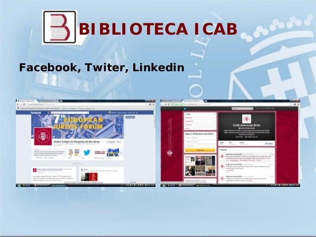 BIBLIOTECA ICABFacebook, Twiter, Linkedin