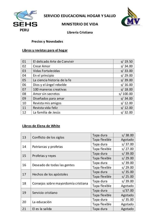 SERVICIO EDUCACIONAL HOGAR Y SALUD                            MINISTERIO DE VIDAPERU                                 Libre...