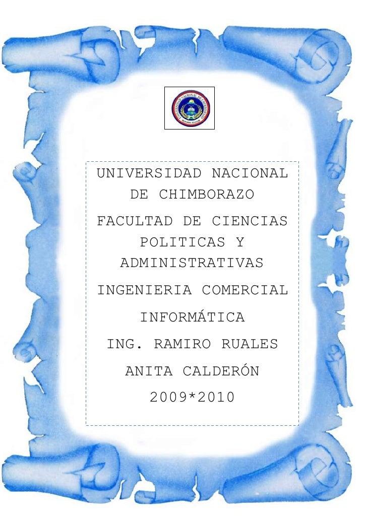 -1156777-740307UNIVERSIDAD NACIONAL DE CHIMBORAZOFACULTAD DE CIENCIAS POLITICAS Y ADMINISTRATIVASINGENIERIA COMERCIALINFOR...