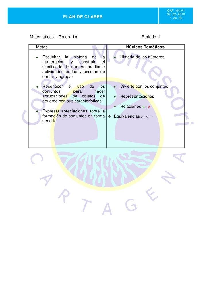 GAF –94-V1                                                                     02- 22- 2010                PLAN DE CLASES ...