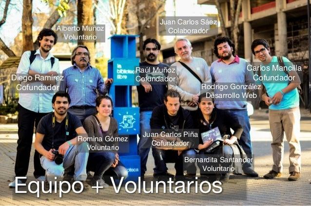 Diego Ramírez Cofundador Alberto Muñoz Voluntario Raúl Muñoz Cofundador Juan Carlos Piña Cofundador Carlos Mancilla Cofund...