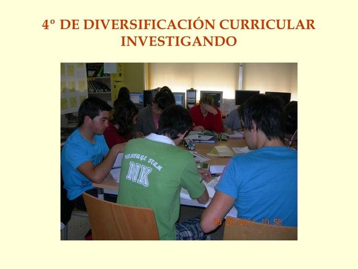 4º DE DIVERSIFICACIÓN CURRICULAR INVESTIGANDO