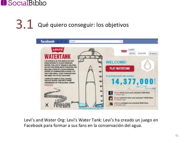 Levi's and Water Org: Levi's Water Tank: Levi's ha creado un juego en Facebook para formar a sus fans en la conservación d...
