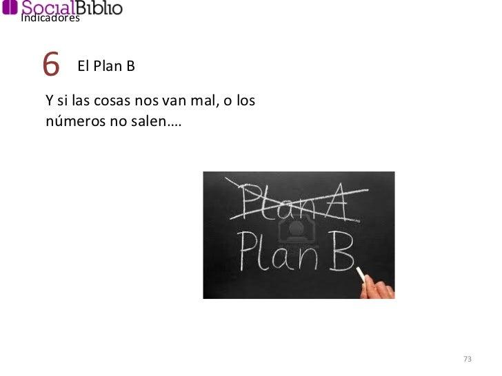 Indicadores Y si las cosas nos van mal, o los números no salen…. El Plan B 6