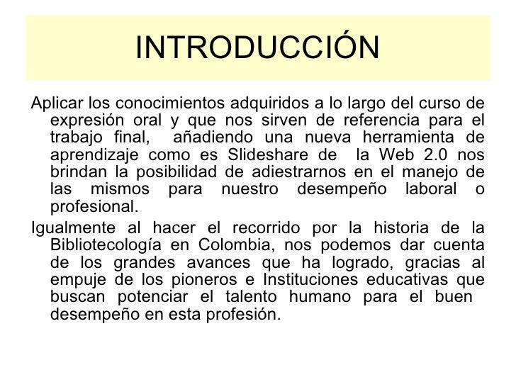 Bibliotecología en colombia Slide 3