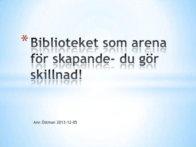 *  Ann Östman 2013-12-05