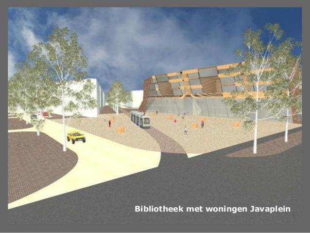 Bibliotheek met woningen Javaplein                                     1