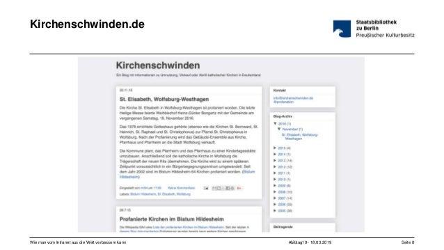 #bibtag19 - 18.03.2019Wie man vom Intranet aus die Welt verbessern kann Seite 8 Kirchenschwinden.de