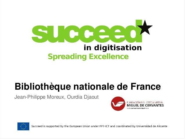Bibliothèque nationale de France  Jean-Philippe Moreux, Ourdia Djaout