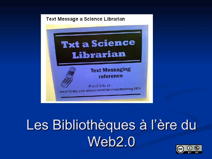 Les Bibliothèques à l'ère du Web2.0