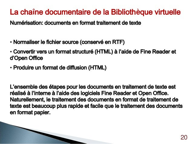 Biblioth que virtuelle du cd acf 7 mai 2012 - Convertir fichier pdf en open office gratuit ...