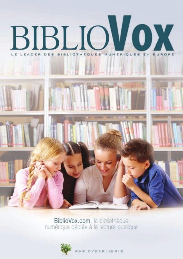 Cyberlibris, le leader des bibliothèques numériques en Europe Aujourd'hui, les bibliothèques de lecture publique doivent f...