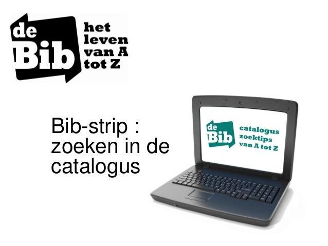 Bib-strip : zoeken in de catalogus