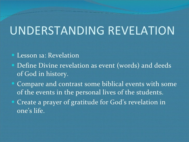 etymology of divine revelation A divine revelation of hell by mary k baxter jesus wants the world to know the horrible reality of hell mary was divine revelations.