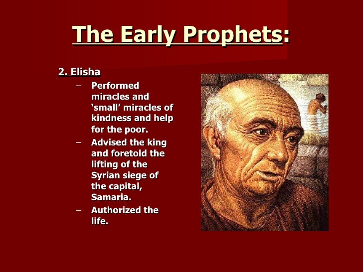 old testament prophets By mary elizabeth sperry, associate director for utilization of the new american  bible the bible is all around us people hear scripture readings in church.