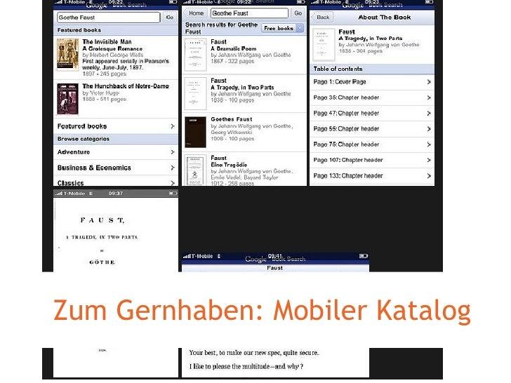 Zum Gernhaben: Mobiler Katalog