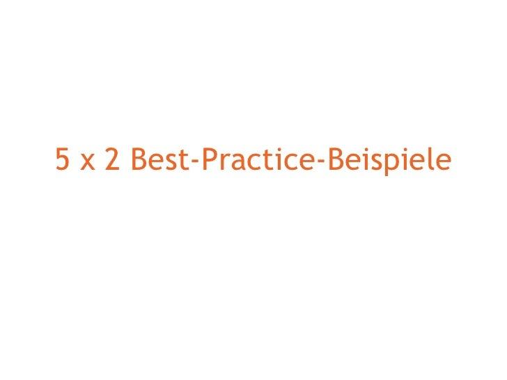 5 x 2 Best-Practice-Beispiele