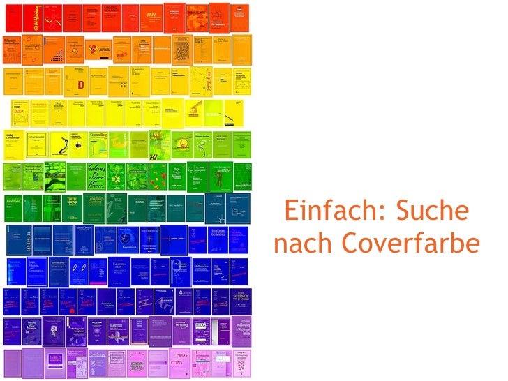 Einfach: Suche nach Coverfarbe