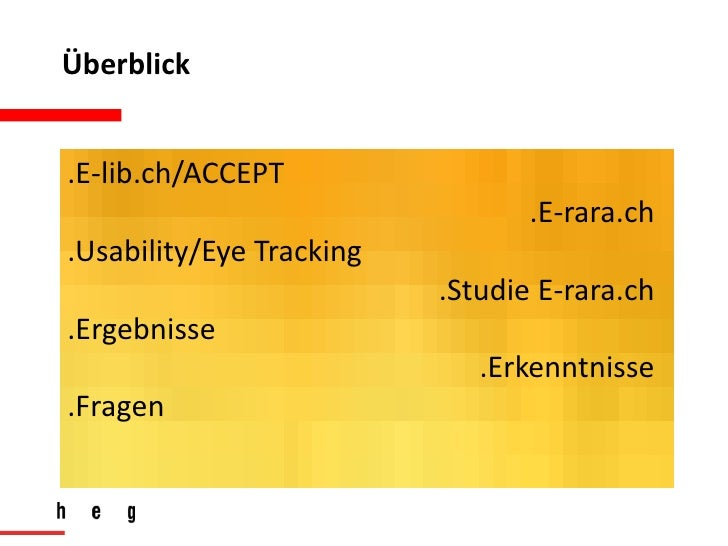 BibTag2012Hamburg - Eye Tracking und Akzeptanztests zur Evaluation der Benutzerfreundlichkeit von digitalen Bibliotheken Slide 2