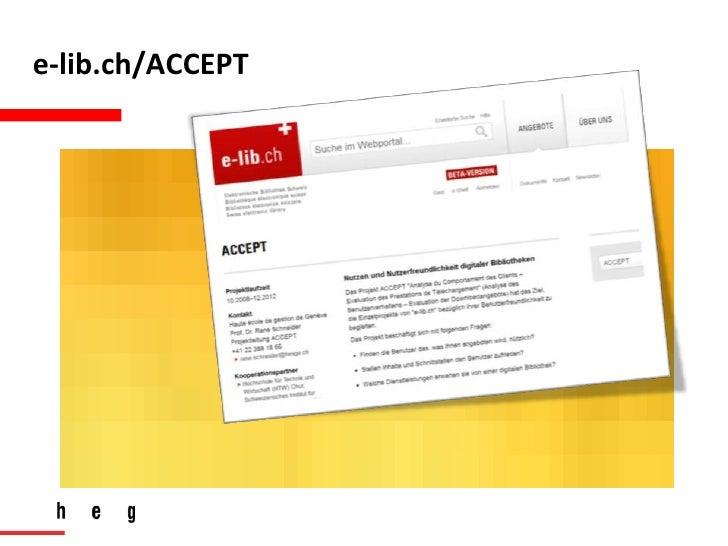 BibTag2012Hamburg - Eye Tracking und Akzeptanztests zur Evaluation der Benutzerfreundlichkeit von digitalen Bibliotheken Slide 3