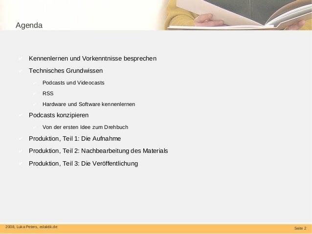Podcasts und Videocasts fuer Bibliotheken Slide 2