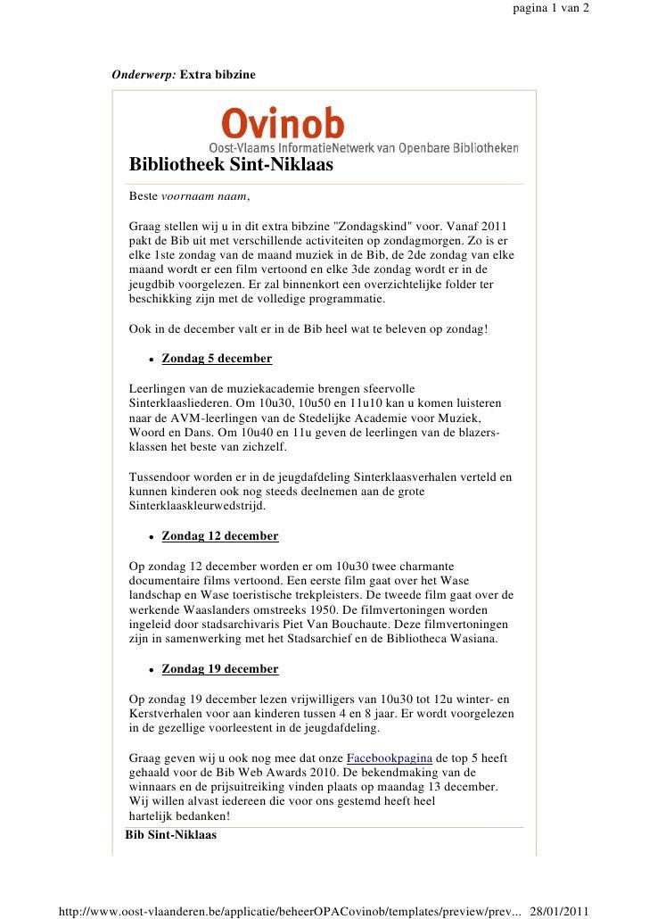 pagina 1 van 2         Onderwerp: Extra bibzine            Bibliotheek Sint-Niklaas            Beste voornaam naam,       ...