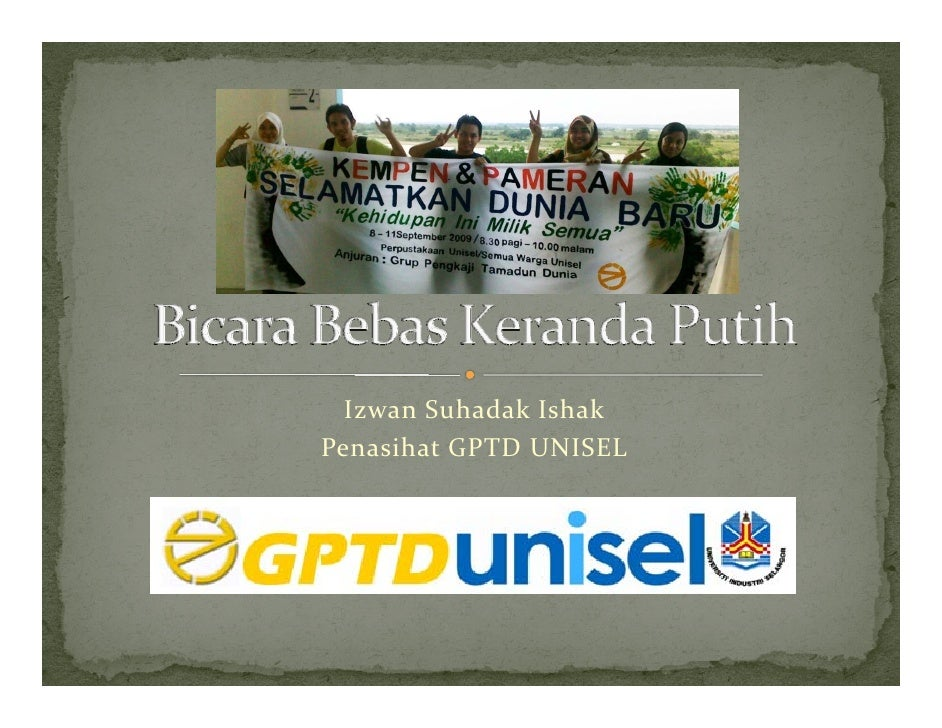 Izwan Suhadak Ishak Penasihat GPTDUNISEL