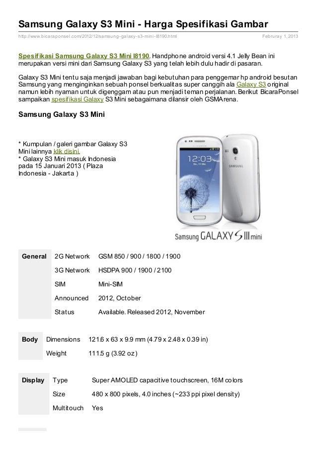 Samsung I8190 Galaxy S III mini - our photos