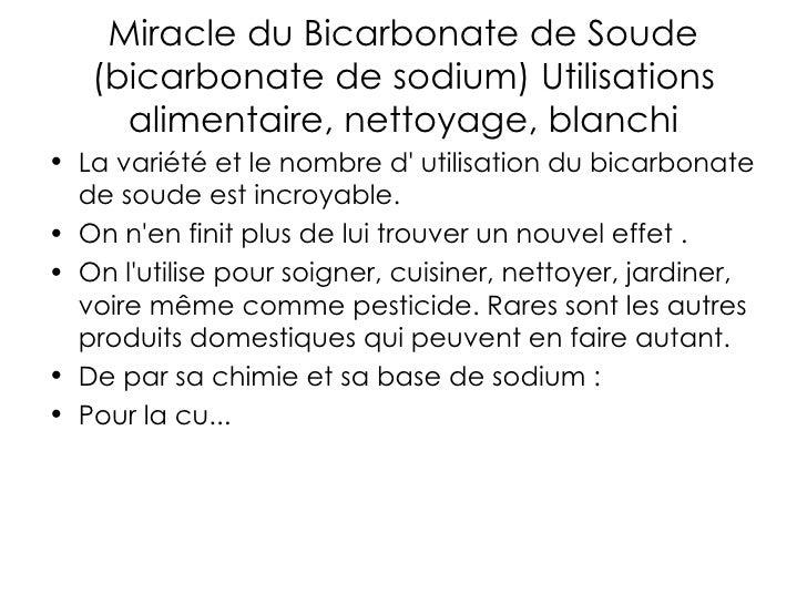 Acheter bicarbonate de soude simple ce produit la fois - Bicarbonate de sodium ou soude ...
