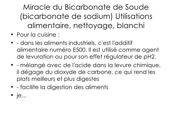 Bicarbonate de soude - Cuisine bicarbonate de soude ...