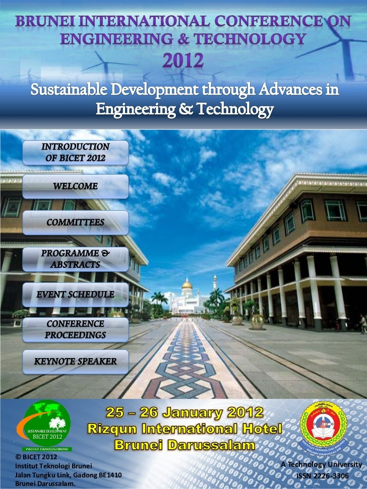 INTRODUCTION        OF BICET 2012           WELCOME         COMMITTEES       PROGRAMME &         ABSTRACTS      EVENT SCHE...