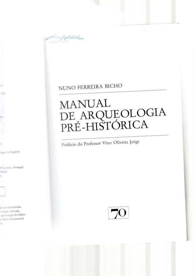 Bicho. manual de arqueologia pré histórica