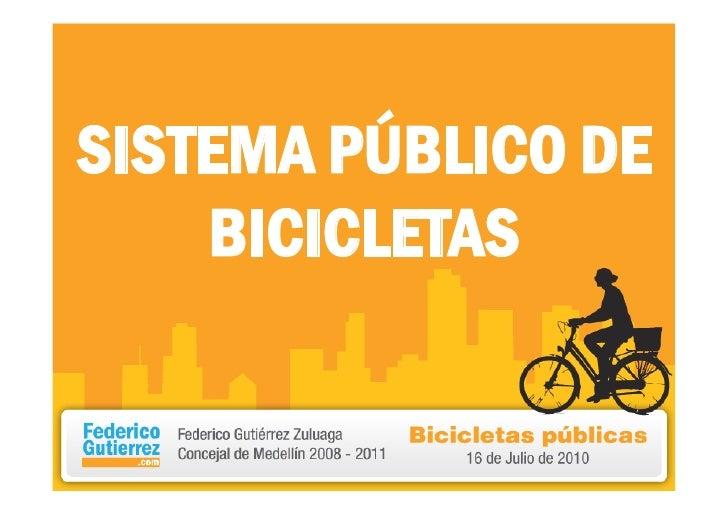 SISTEMA PÚBLICO DE BICICLETAS