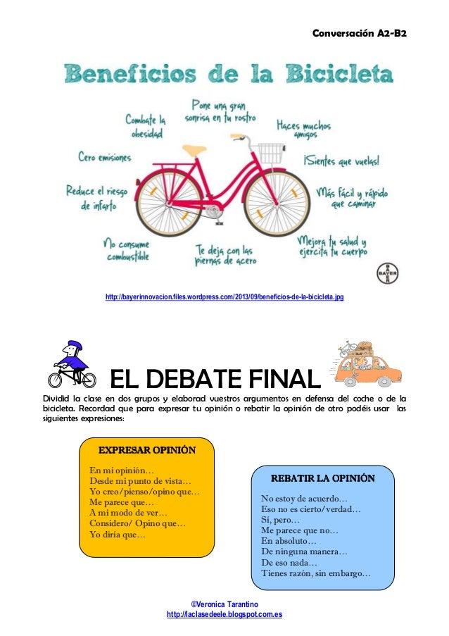 Debate: Bici vs. coche Slide 2