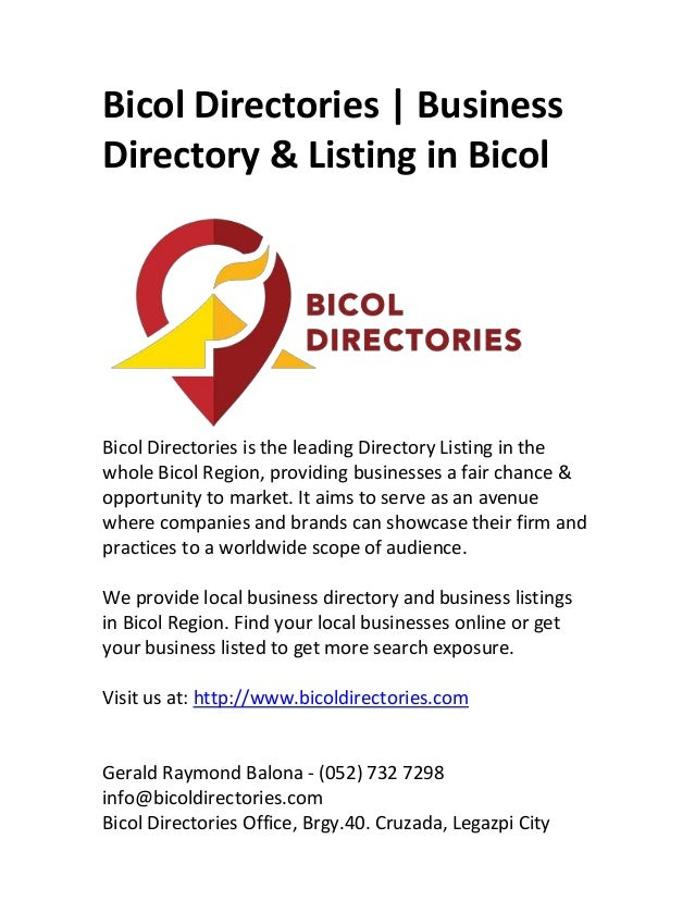 Bicol Directories   Business Directory & Listing in Bicol