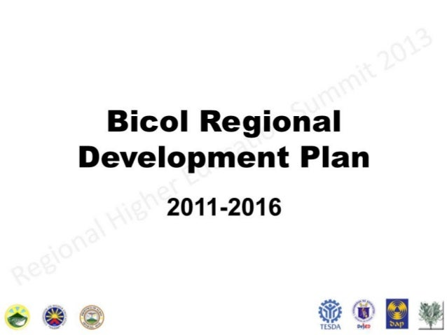 Bicol regional development plan