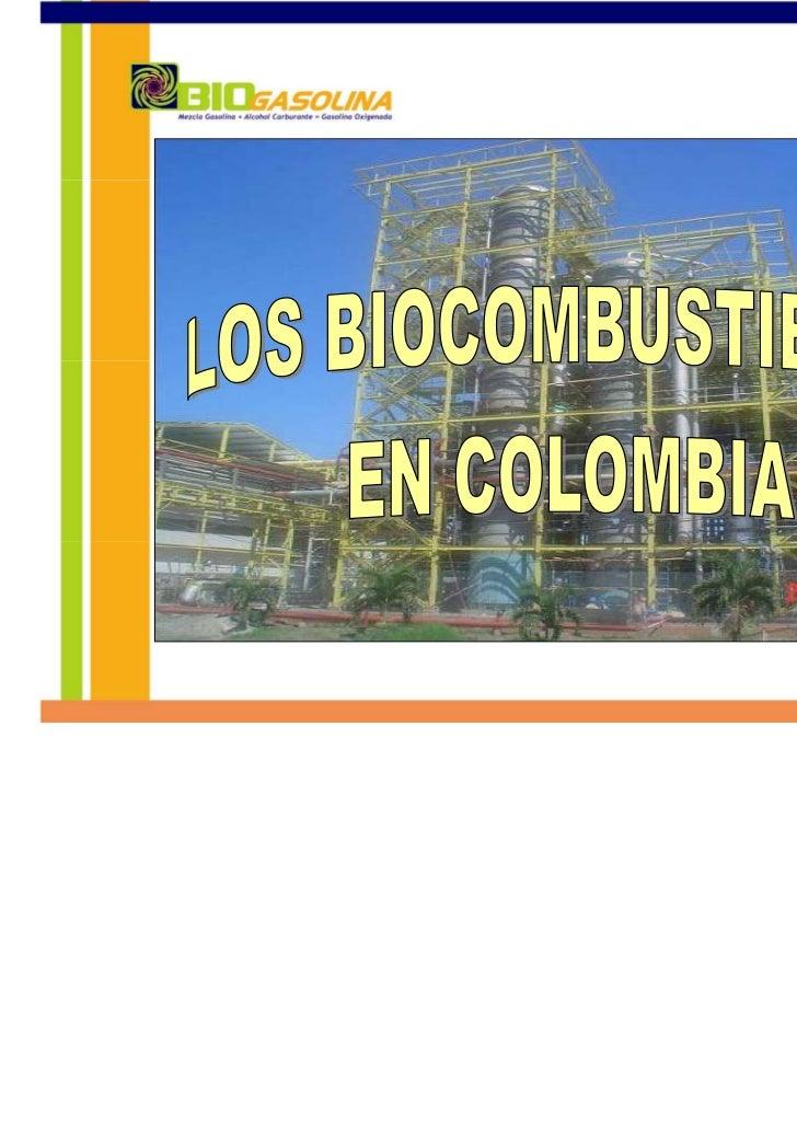 CADENA DE DISTRIBUCIÓN DE         COMBUSTIBLES EN COLOMBIA                                                   PRIVADOS     ...